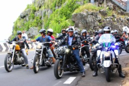 Harley Davidson out ride in Mauritius