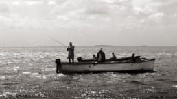 Fishermen pirogue mauritius